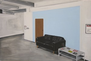 'Vacant space', 2012, Oil on board, 90x60cm