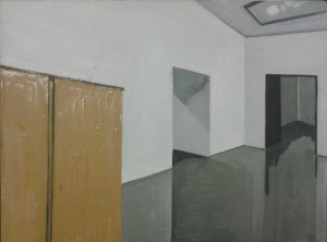 'At the Tate', 2012, Oil on board, 30x40cm