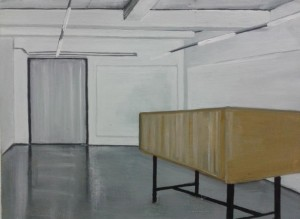 'Mc Queen at Golden Thread', 2012, Oil on board, 30x40cm