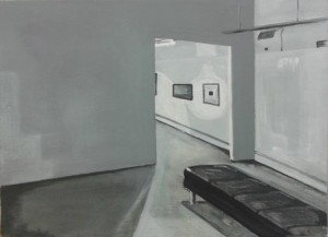 'GT, gallery 2', 2012, Oil on board, 30x40cm