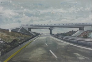 Motorway,7, oil on board 80x60cm. 2015